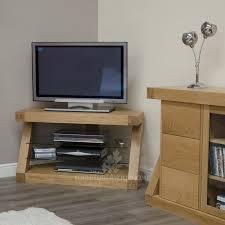 z solid oak designer corner tv unit for the home throughout tv corner shelf unit
