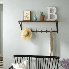 Wall Hung Coat Racks Fascinating Mercury Row Horning Wall Mounted Coat Rack Reviews Wayfair