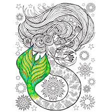 Realistic Mermaid Coloring Pages For Adults Clever Mermaids Page Fun