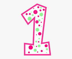 number one pink clipart - Clip Art Library
