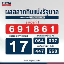 ตรวจหวย 16 มิถุนายน 2564 ผลสลากกินแบ่งรัฐบาล รางวัลที่ 1 คือ 691861
