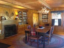 knotty pine in their 1955 cabin