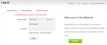 Huawei Website Account