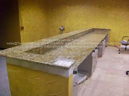 santa cecilia granite reception santa cecilia granite desk granite edge round top