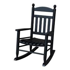 youth slat black wood outdoor patio rocking chair