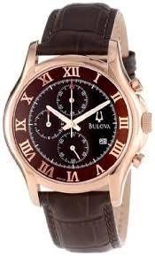 bulova men s vintage mechanical wrist watch 14k gold case l4 21 bulova men s 97b120 chronograph rose gold strap watch bulova