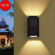 up down outdoor led wall light warm white 2 x 3 watts