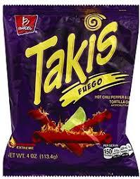 barcel takis fuego corn snack 150 calories