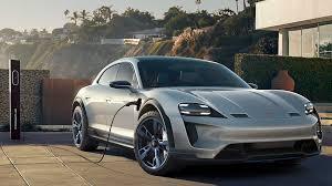 Porsche Mission E Cross Turismo Electric Car Charging  O