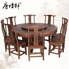 round wood dining table. Mahogany Furniture Large Dinette Combination Of Wenge Wood Round Dining Table E