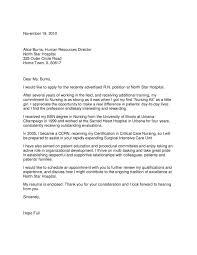 Sample Resume For Nursing Student Magnificent Cover Letter Format Nursing