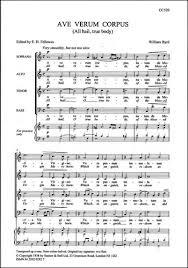 ave verum corpus sheet music byrd william ave verum corpus all hail true body stainer bell