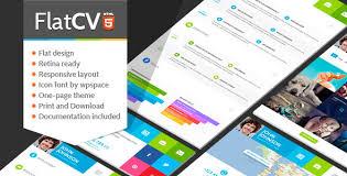 FlatCV - Resume \ Portfolio \ HTML5 - Virtual Business Card Personal