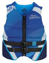 Full Throttle Life Vest Size Chart Full Throttle Neoprene Flex Zone Life Jacket Blue