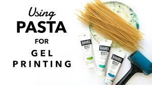 Using Pasta for Gel <b>Printing</b> - <b>YouTube</b>