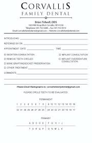 Referral Form Templates Pin Dental Referral Form Template On Letter Sample Format Example