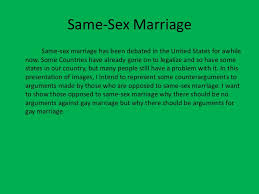 same sex marriage powerpoint