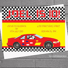 Car Birthday Invitations 12 X Personalised Boys Red Racing Car Kids Birthday Party Invitations H0574 Ebay