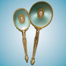 lovely vine brush and mirror vanity set trish s treres