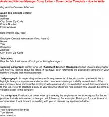 Charming Assistant Kitchen Manager Cover Letter For Kitchen