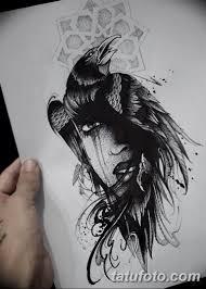 тату эскизы мужские ворон 09032019 013 Tattoo Sketches
