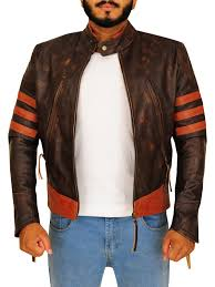 distressed brown wolverine jacket distressed brown hugh jackman leather jacket