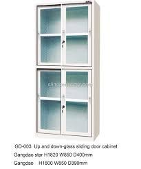 display cabinet sliding door track