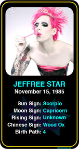 Jeffree Star Natal Chart Pin By Astroconnects On Famous Scorpios Scorpio Moon Sign