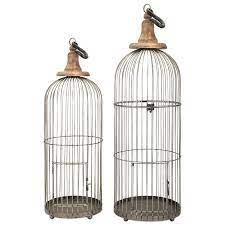 IMAX Worldwide Home Decorative Figurines 40516-2 Lenore Bird Cages - Set of  2 | Corner Furniture | Sculptures/Figurines