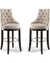 upholstered bar stools. Wholesale Interiors Harmony Button-Tufted Fabric Upholstered Bar Stool With Metal Footrest, Beige Stools V