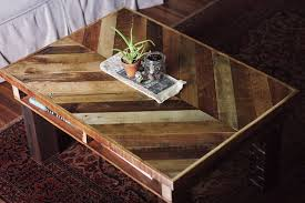 DIY coffee table from recycled pallets