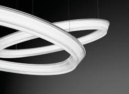 halo circular pendant light 2 leds by vibia