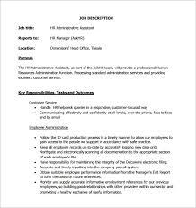 12+ Administrative Assistant Job Description Templates – Free ... HR Administrative Assistant Job Description Sample PDF Free Download