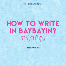 Heres A Quick And Easy Guide To Writing In Baybayin When