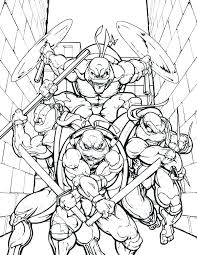 Teenage Mutant Ninja Turtles Coloring Pages Printable Related Post