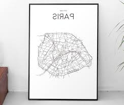 most popular map of paris wall art with regard to able art print printable poster city