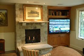 Open Stone Fireplace Decorating Fascinating Fireplace Mantel Kits Design For Your