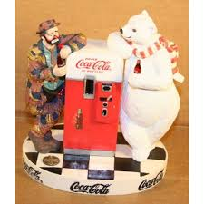 Coke Polar Bear In Bottle Vending Machine Simple CocaCola Figurine CocaCola Emmett Kelly And Polar Bear By Coke