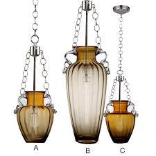 modern amber blown glass bottle pendant lighting 11906