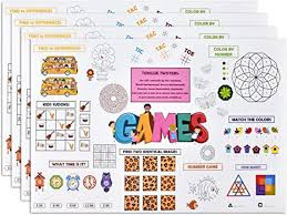 🖍 over 6000 great free printable color pages. Amazon Com Disposable Kids Activity Paper Place Mats 500 Pack 11 X 17 Fun Time Coloring And Puzzle Game Sheet Placemats For Restaurants Wedding Entertainment Crafts Dinner Party Table Supplies Decorations Kitchen Dining