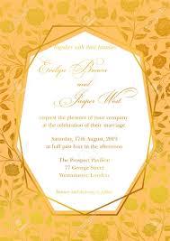 Golden Invitation Card Design Wedding Invitation Luxury Roses Floral Invite Card Design With