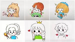 Vẽ hình chibi cute đáng yêu, vẽ tranh dễ thương