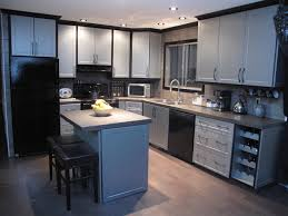 cabinet refacing modern kitchen edmonton by reface magic