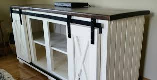 sliding barn door console entertainment centers coffee tables end in table remodel 6