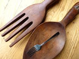 giant fork and spoon wall decor large silver wood