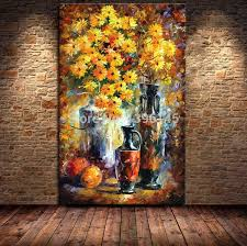 oil painting canvas hand painted modern palette knife flower oil painting wall paintings on the wall