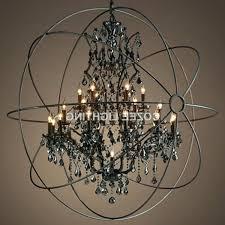 orb light chandelier orb light chandelier vintage smoky font b crystal b font font b chandelier orb light chandelier