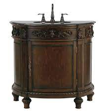 Home Decorators Collection Chelsea 37 In W Bath Vanity In Antique Cherry With Granite Vanity Top In Black 12102 Vs37a Ac The Home Depot