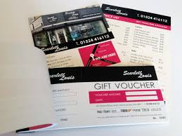 hair salon gift voucher booklet and double sided a5 leaflets lists