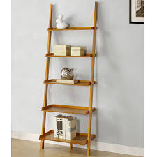stair bookcase furniture. oak five tier leaning ladder bookcase overstock shopping great intended for home furniture stair e